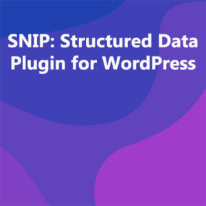 SNIP: Structured Data Plugin for WordPress
