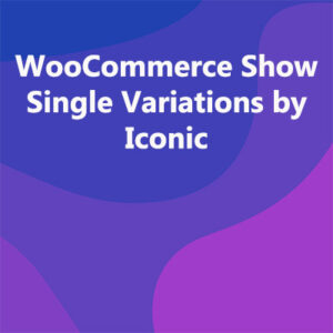 WooCommerce Show Single Variations by Iconic