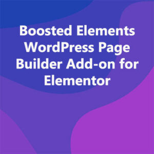 Boosted Elements WordPress Page Builder Add-on for Elementor