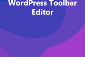 WordPress Toolbar Editor