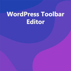 WordPress Toolbar Editor