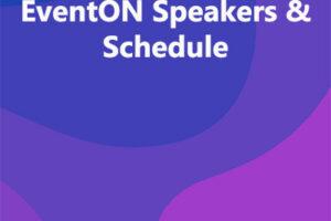 EventON Speakers & Schedule
