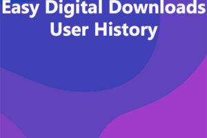 Easy Digital Downloads User History
