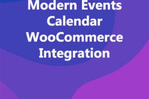 Modern Events Calendar WooCommerce Integration
