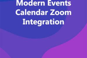 Modern Events Calendar Zoom Integration